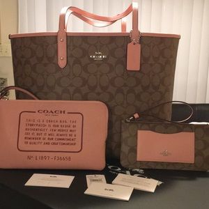 NWT Coach Tote, Wristlet and Wallet